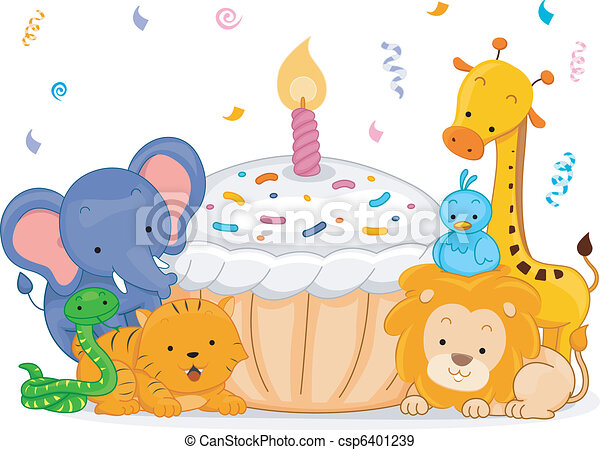 Birthday Animals - csp6401239