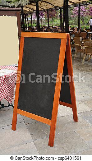 restaurante, menu, cavalete - csp6401561
