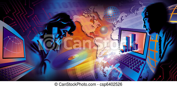 Business communication illustration - csp6402526