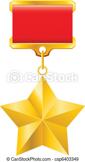 Gold star award - csp6403349