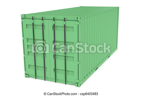 Green Container. Part of Warehouse and Logistics Series - csp6403483