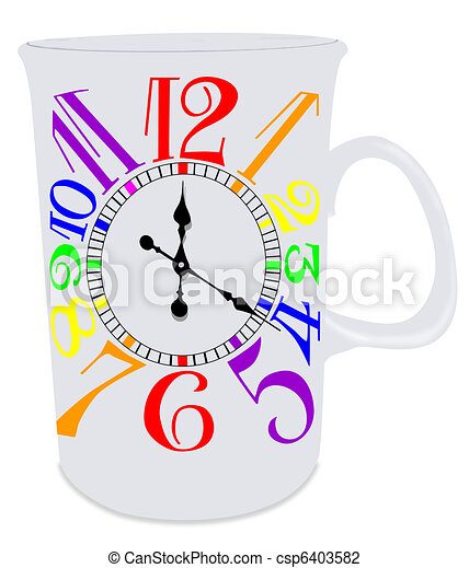 Gay Pride Mug Clock - csp6403582