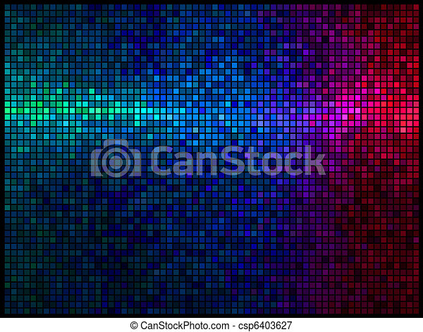 Multicolor abstract lights disco background - csp6403627