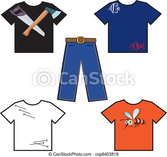 EPS vectores de camisas, coloreado, pantalones - coloreado ...