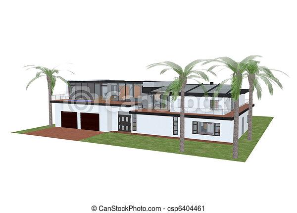 dessin de maison de luxe. Black Bedroom Furniture Sets. Home Design Ideas