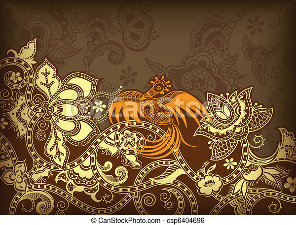 Asia Floral Background - csp6404696