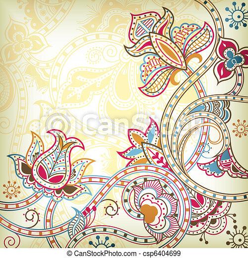 Oriental Floral Background - csp6404699