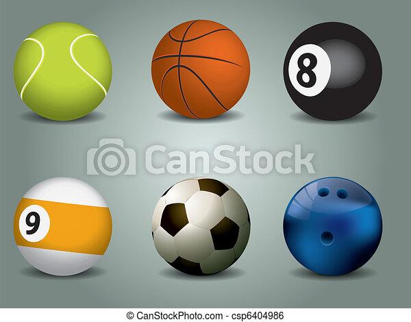Vector illustration of sport balls - csp6404986