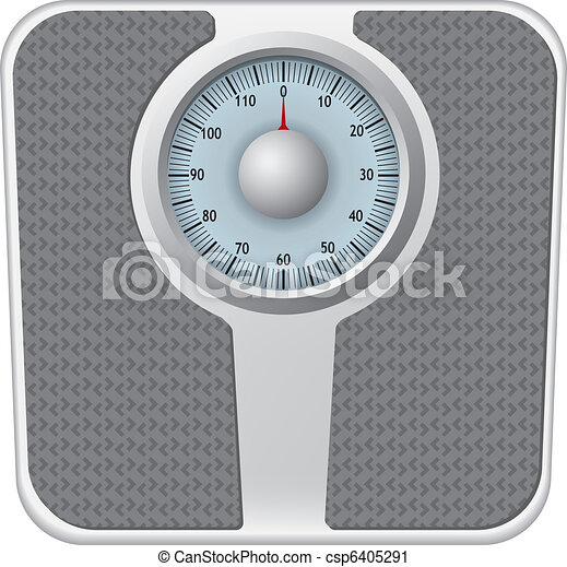 Bathroom scale vector - csp6405291