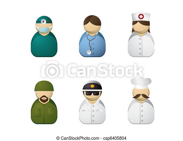 Occupation avatars - csp6405804