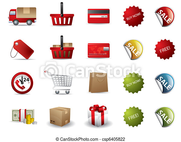 Shopping icons - csp6405822