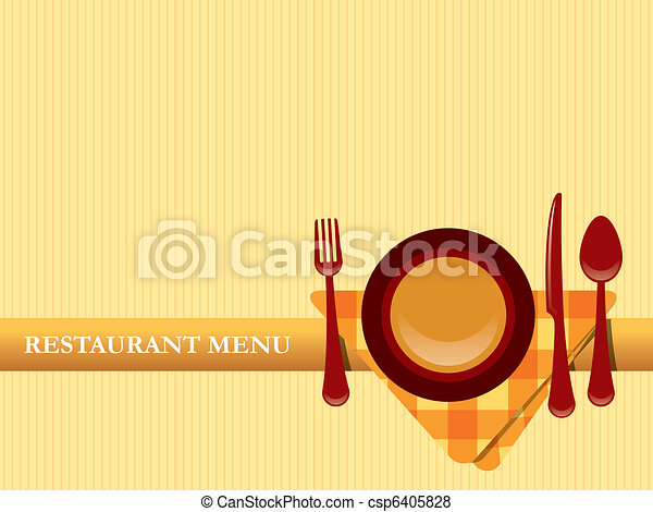 Restaurant menu design vector - csp6405828