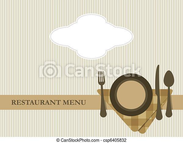 Restaurant menu design vector - csp6405832