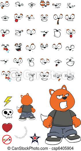 zorro, niño, cartoon10 - csp6405904