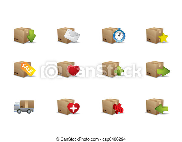 E-commerce box icons - csp6406294