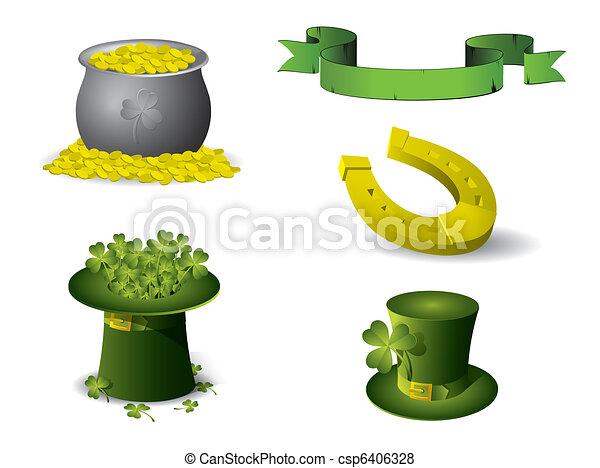 Saint Patrick's Day symbols - csp6406328