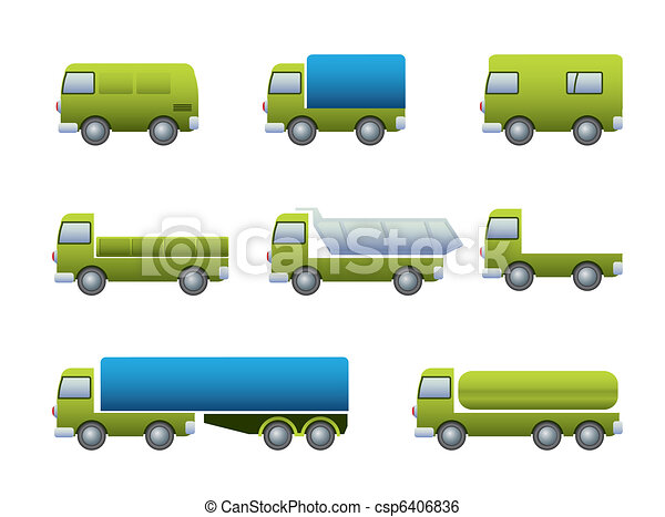 Transport truck icons - csp6406836