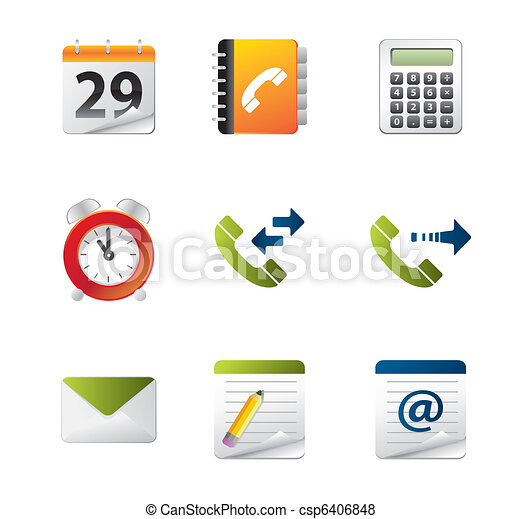 Mobile phone icon Set - csp6406848