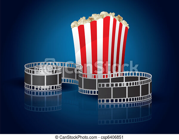 Twisted film for movie and popcorn - csp6406851