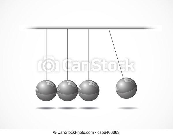 Balancing balls Newton's cradle - csp6406863