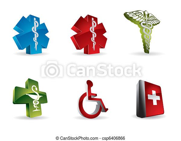 Medical 3d icons - csp6406866