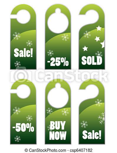 Christmas style knob hanger - csp6407182