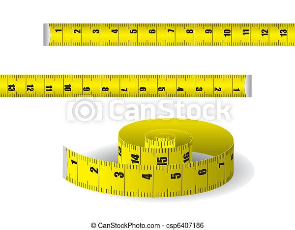 Yellow measuring tape - csp6407186