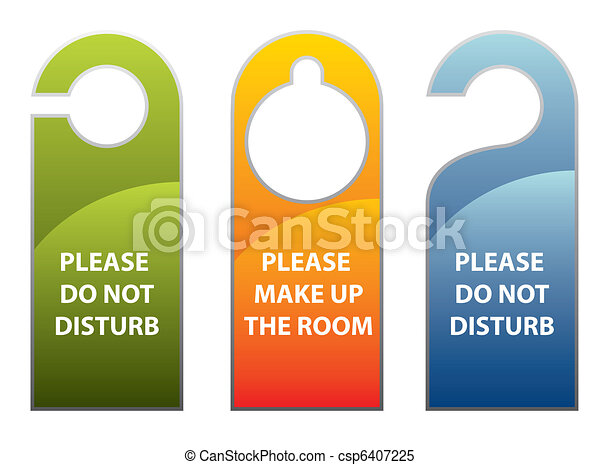Door knob or hanger sign - do not d - csp6407225