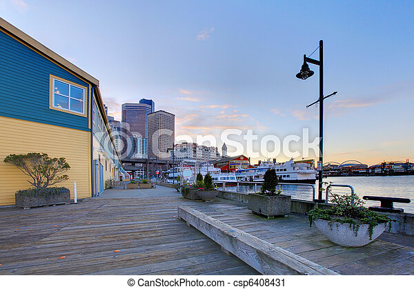 Seattle downtown waterfront - csp6408431