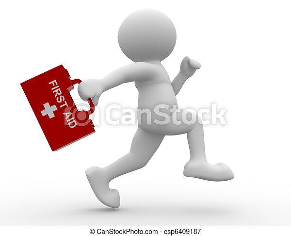 de primeros auxilios, hombre - csp6409187