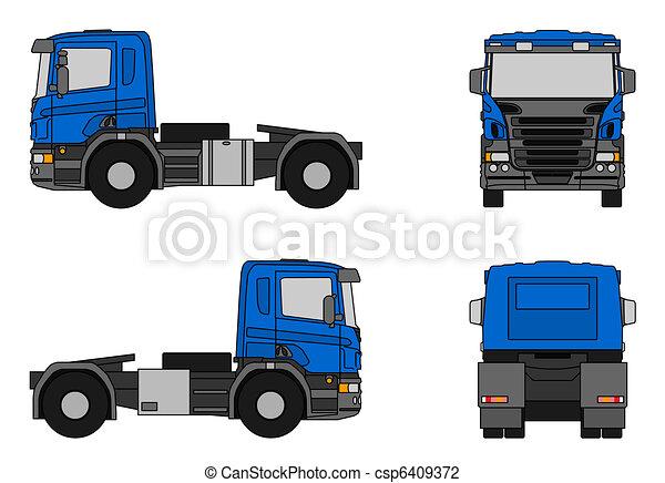 clip art of semi trailer truck illustration of a blue White Semi Truck Semi Truck Clip Art Black and White