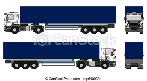 Semi-trailer truck - csp6409394