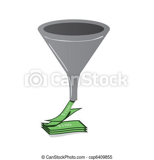 Sales funnel - csp6409855