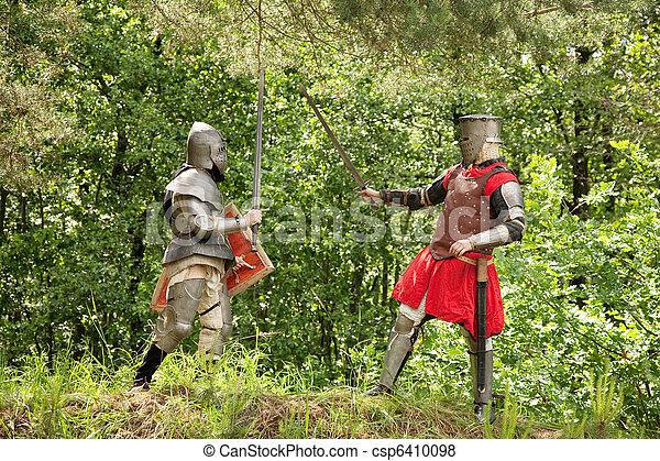 images de chevaliers combat deux chevaliers dans armure csp6410098 recherchez des. Black Bedroom Furniture Sets. Home Design Ideas