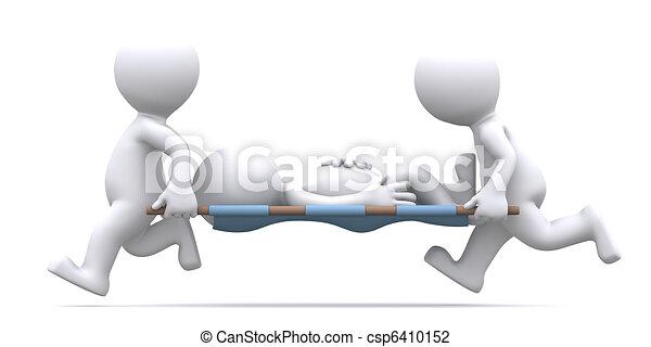 Medics Carrying Paticent - csp6410152