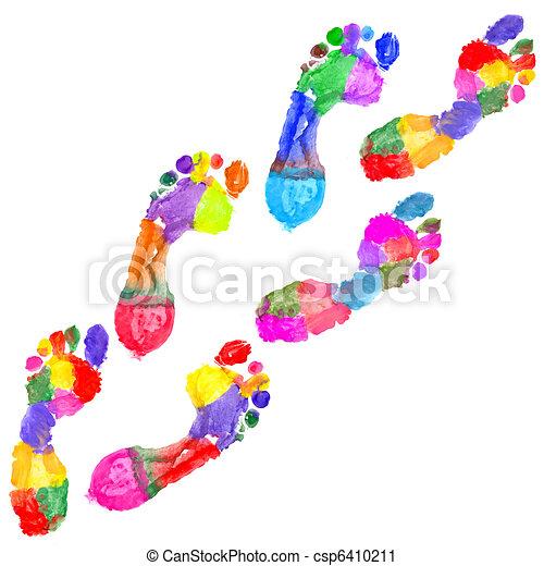 Multi Colored footprints - csp6410211