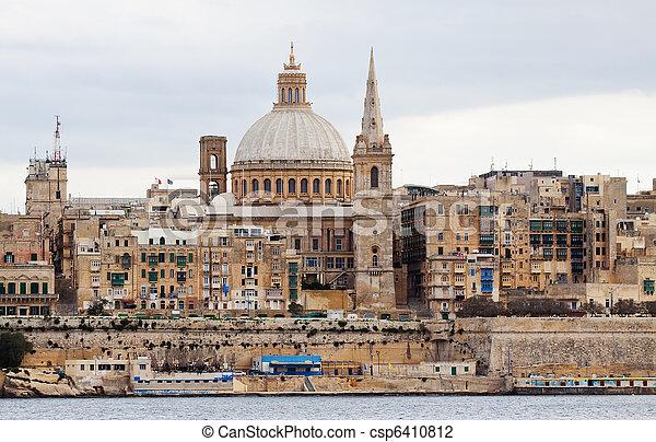 Valletta, Malte, vue - csp6410812