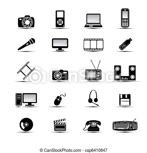 Simple multimedia icons - csp6410847