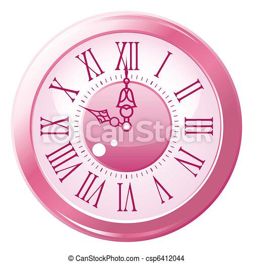 Retro style clock. - csp6412044