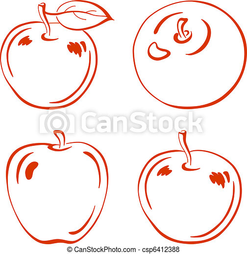 Apple, pictogram - csp6412388