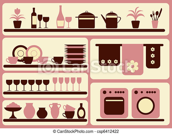 Kitchen ware and home objects set.  - csp6412422