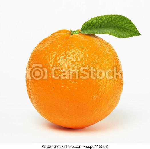 orange with leaf - csp6412582