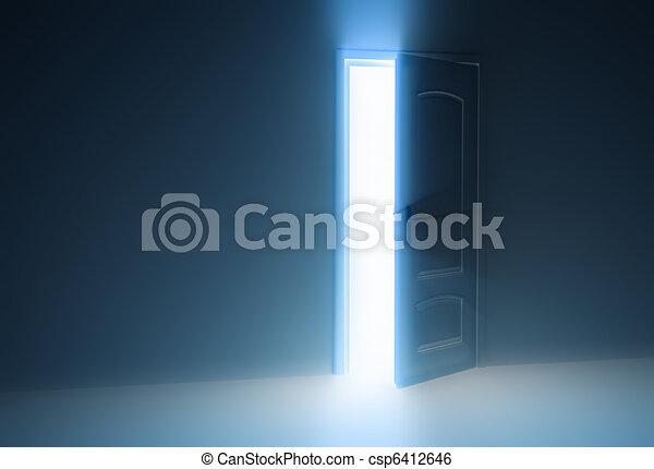 Door Opening Drawing Door Half Open Csp6412646