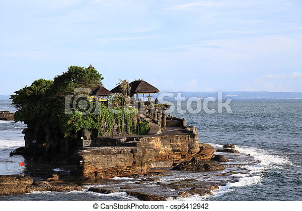 Famous temple Pura Tanah Lot at Bali - csp6412942