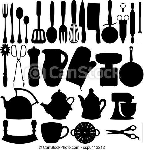 Kitchen Objects Drawing Kitchen Objects Csp6413212