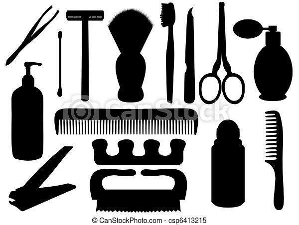 personal, higiene, objetos - csp6413215