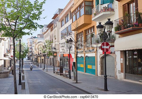 Street in mediterranean town