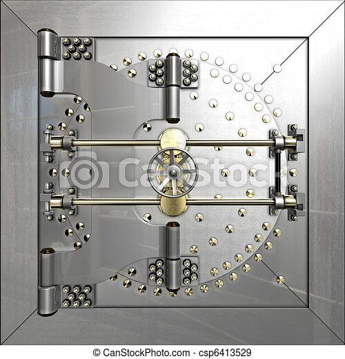 Bank vault door - csp6413529