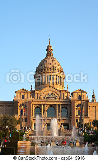 National Palau of Montjuic - csp6413916