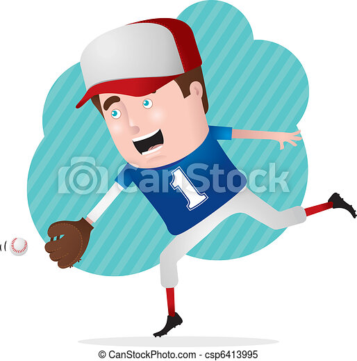 Baseball Player in Action - csp6413995